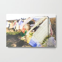 Prayer Flags on the Hill Top Metal Print