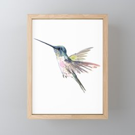 Flying Little Hummingbird Framed Mini Art Print