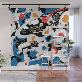 sizzle kinks of curved lines Wall Mural