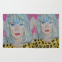 jared leto Area & Throw Rugs featuring Jared Leto as RAYON by Jenn