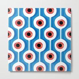 Eye Pod Blue Metal Print