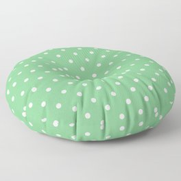 Sage Polka Dots Floor Pillow