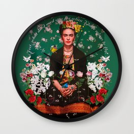 Wings to Fly Frida Kahlo Wall Clock
