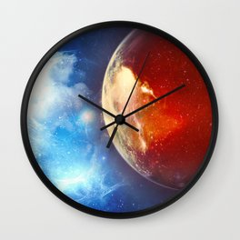 Sunsets on Mars are Blue Wall Clock