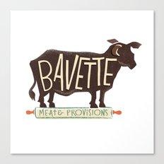 bavette Canvas Print