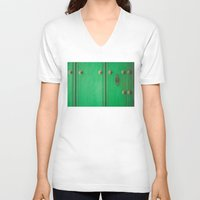 door V-neck T-shirts featuring Door by Caro Navarro
