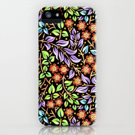 Filigree Floral smaller scale iPhone Case