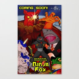 Kamikaze Kronicles of Ninja Fox Canvas Print