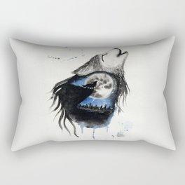 Moon Wolf Rectangular Pillow