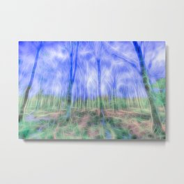 Mystical Forest Art Metal Print