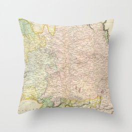 Vintage Map of Bavaria Germany (1814) Throw Pillow