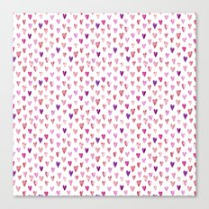 Color Heart Canvas Print