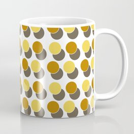 Yellow Ginger Spot Dot Geometric Print Coffee Mug