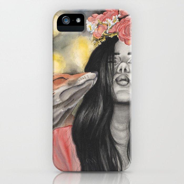 Fox & Flowers iPhone Case