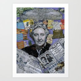 Agatha Christie's Disappearance Art Print