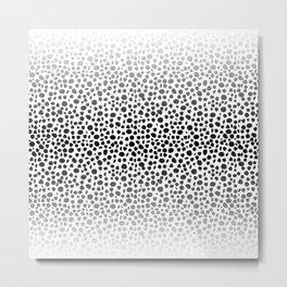 Small Random Dots Salmon Metal Print
