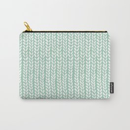 Knit Wave Mint Carry-All Pouch