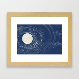 The Moon and the Milky Way Framed Art Print