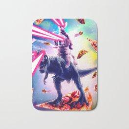 Laser Eyes Space Cat Riding Dog And Dinosaur Bath Mat