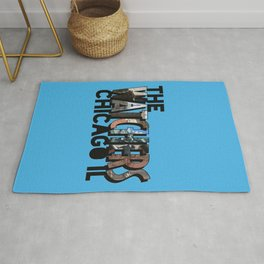 The Watchers of Chicago Illinois Big Letter Rug