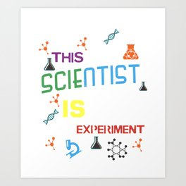 Mad Scientist Shirt Birthday Science Theme Party Gift Art Print