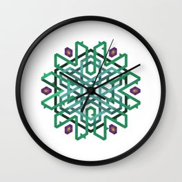 Winter turns to Spring Wall Clock