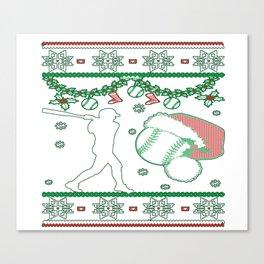 Softball Christmas Canvas Print