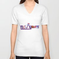 yankees V-neck T-shirts featuring New York by Michela Deck