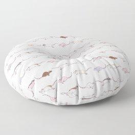 A mischief of rats Floor Pillow