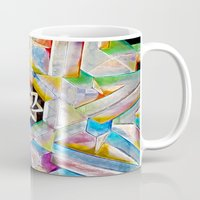 escher Mugs featuring Escher Star by Todd Huffine