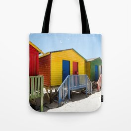 Colorful beach huts Tote Bag