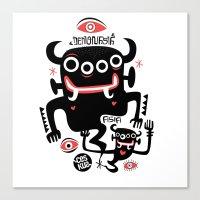 asian Canvas Prints featuring Asian Demons by Ceskus