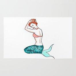 Tiger Mermaid Rug