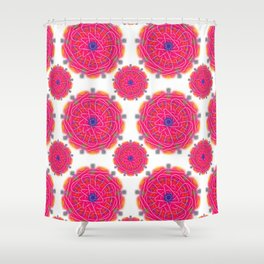 Pink Mandalas Shower Curtain