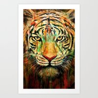 tiger Art Prints featuring Tiger by nicebleed