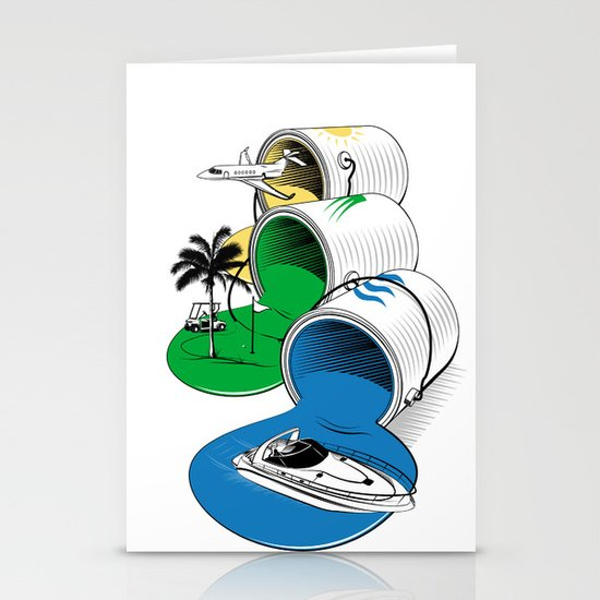 Luxury Paints Stationery Cards