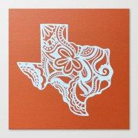 texas Canvas Prints featuring Texas by bkraftydesigns