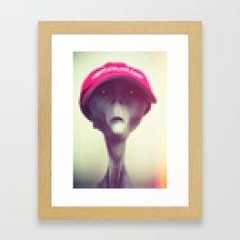 Pixel Alien Framed Art Print