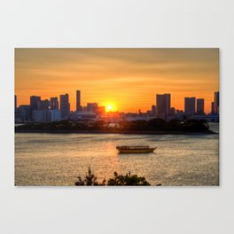 Sunset over Tokyo Bay Canvas Print