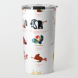 Chicken Yoga Travel Mug