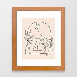Dreamers no.4 (peach) Framed Art Print