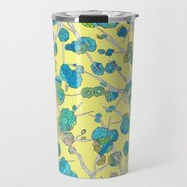 Cherry Blossom Yellow Travel Mug