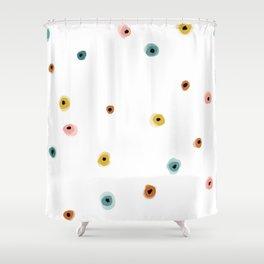 Organic Dot Pattern Shower Curtain
