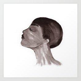Woman ink 05 Art Print