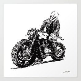 Rider 3 RAW Art Print
