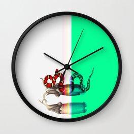 female, diagonally Wall Clock