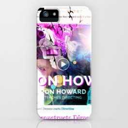 Ron Howard Teaches Directing iPhone Case