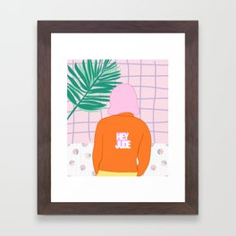Hey you Framed Art Print