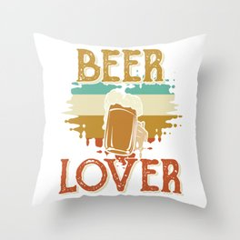 beer beer lover beer tent booze Throw Pillow