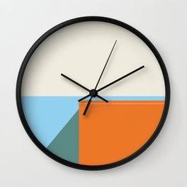 Cast Shadow Spring Colors Wall Clock